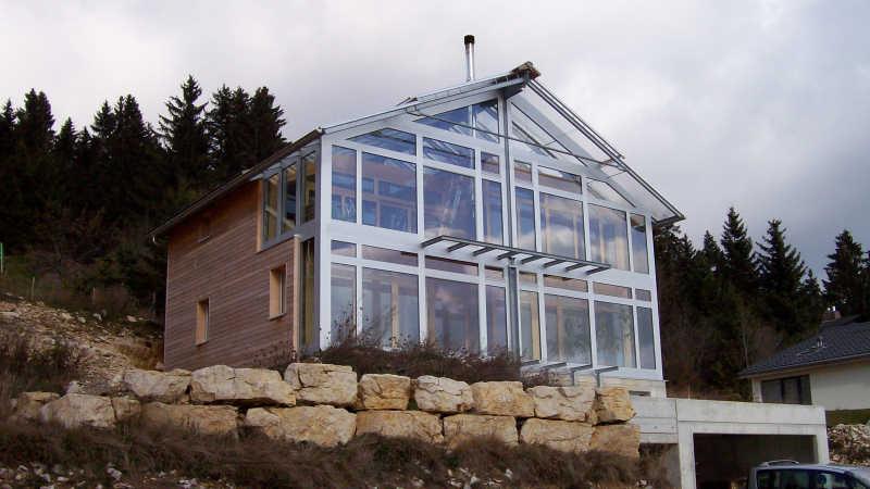 Stahl-Holzhaus, Einfamilienhaus - 10338