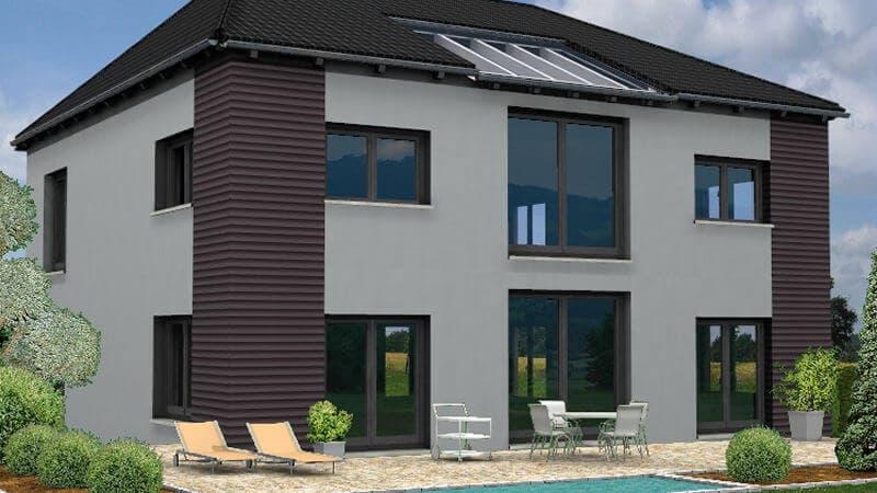 Stadtvilla Mit 2 Geschossen Und Walmdach Bio Solar Haus
